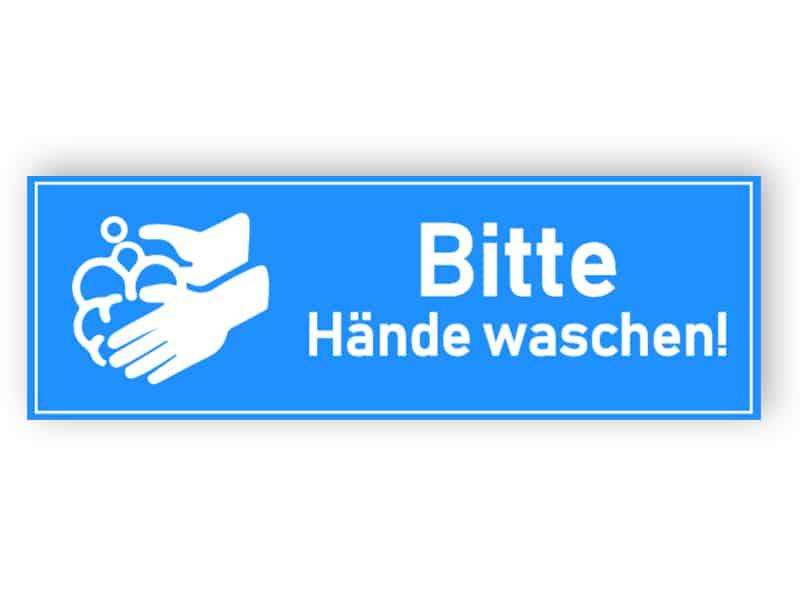 Bitte Hände waschen! - Aufkleber