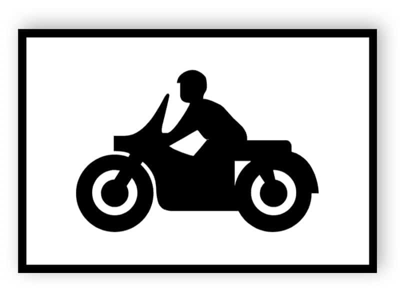 Parkplatz für Solo-Motorräder Zeichen