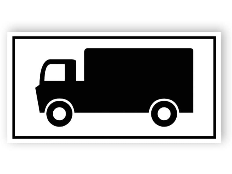Parkplatz für Lastkraftwagen Zeichen