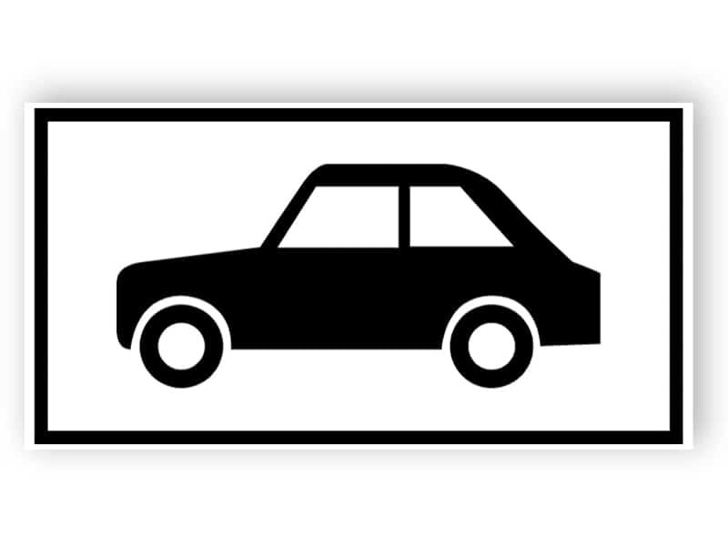Parkplatz für Kraftfahrzeuge Zeichen