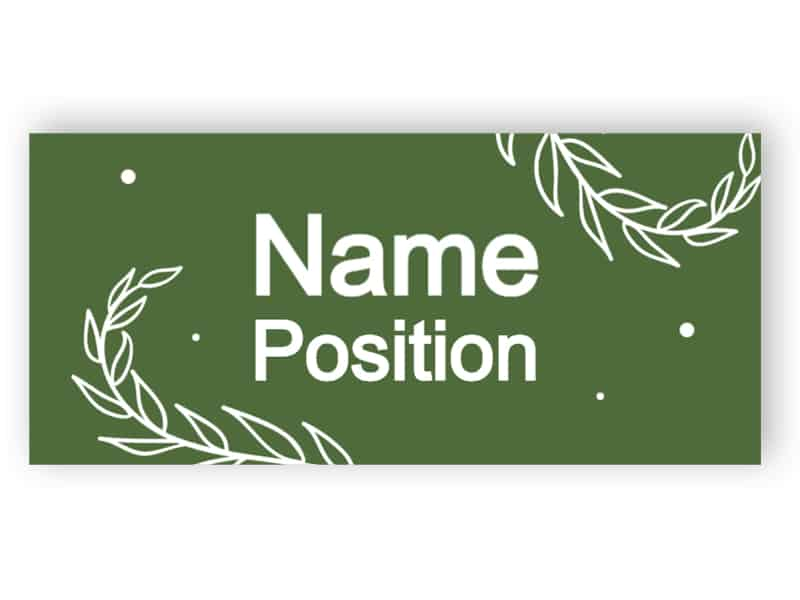 Salbei grünes Namensschild