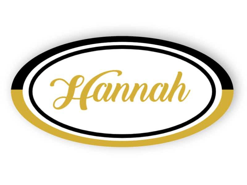 Schwarz-Gold-Namensschild