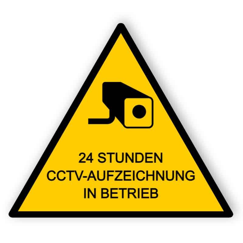 CCTV Schild 24 Stunden Aufnahme - Aluminiumverbundschilder