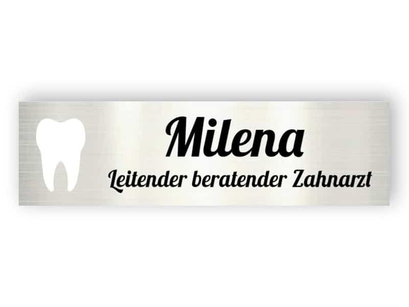 Namensschild für Zahnarzt - Aluminiumschilder