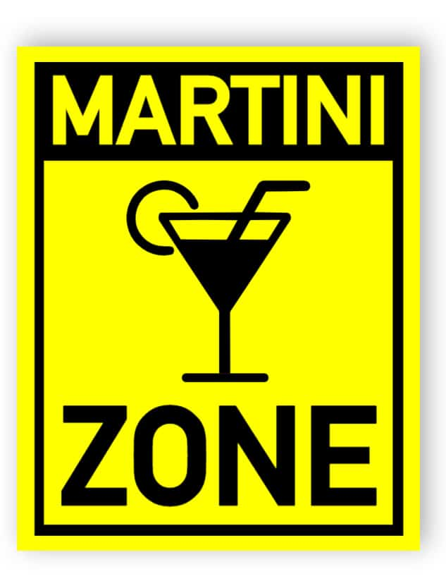 Martini Zone Schild