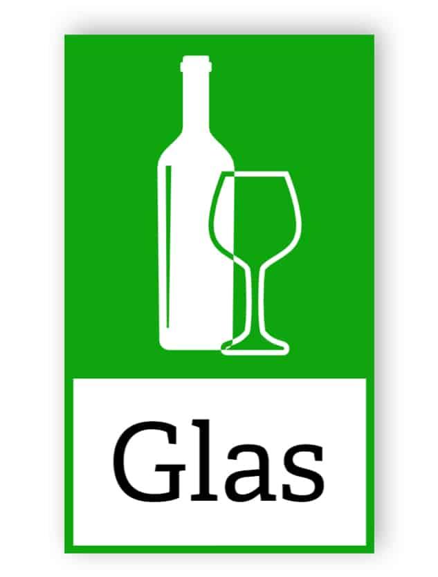 Grüner Glasaufkleber