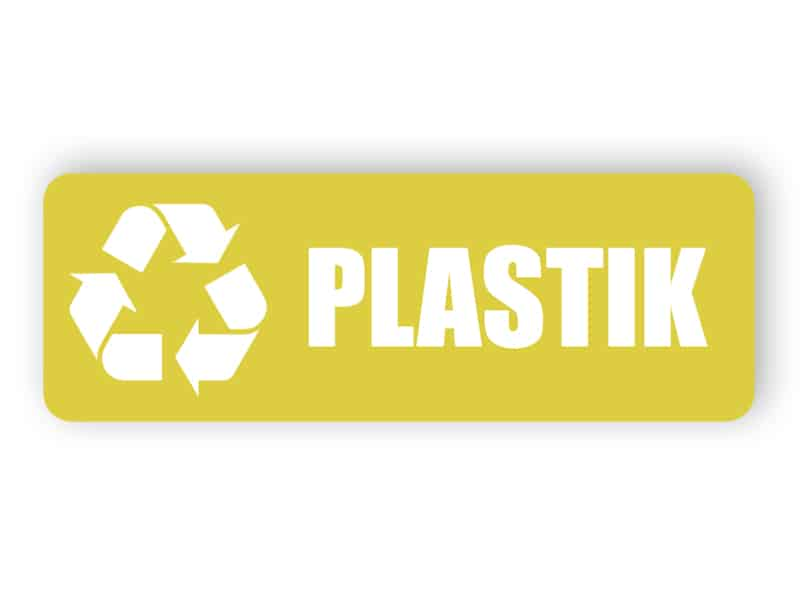 Gelber Plastik Landschaft Aufkleber