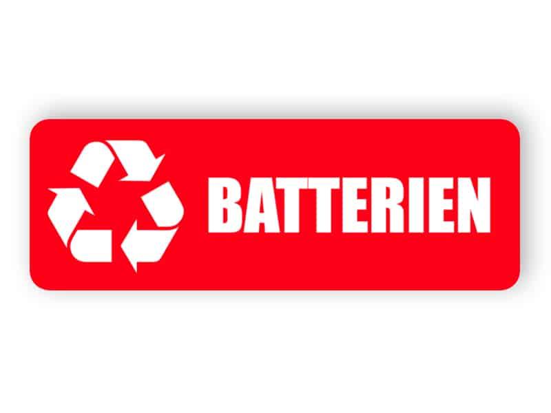 Rote Batterien Landschaft Aufkleber