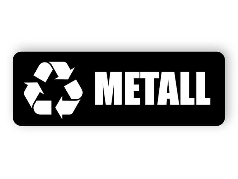 Schwarzer Metall-Landschaftsaufkleber