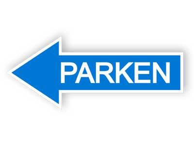 Richtung des Parkplatzes