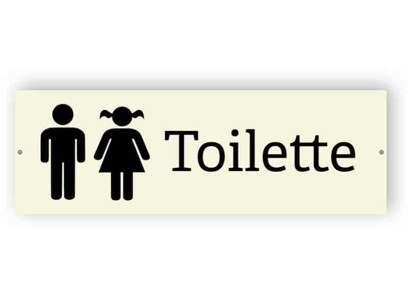 Toilette - Aluminiumverbundschilder