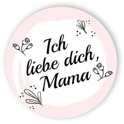 Ich liebe dich, Mama - Aufkleber