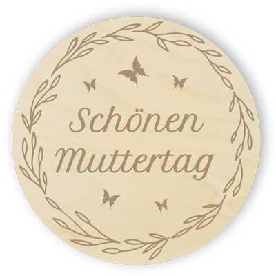 Schönen Muttertag - Tablett für eine Tasse