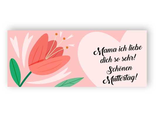 Schönen Muttertag - Geschenkaufkleber