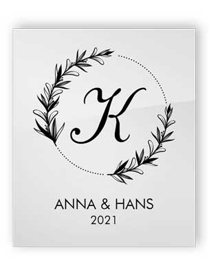 Personalisiertes Acryl-Hochzeitszeichen