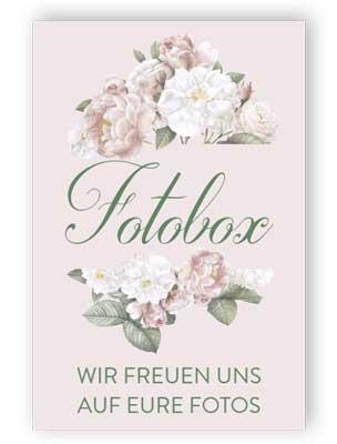 Fotobox Schild