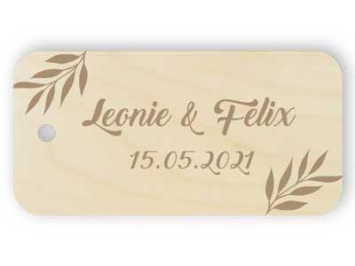 Gravur Danke Hochzeit Holz Tag