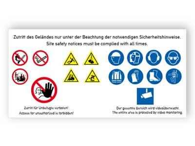 Baustellenschild Sicherheitshinweise 1