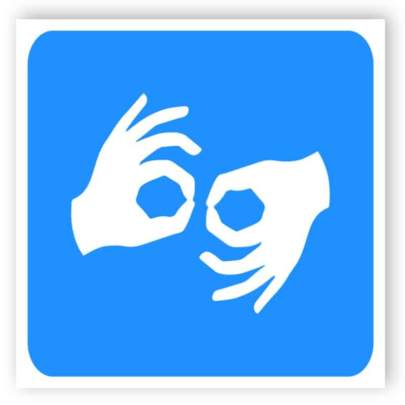 Behinderte sign- Gebärdensprache