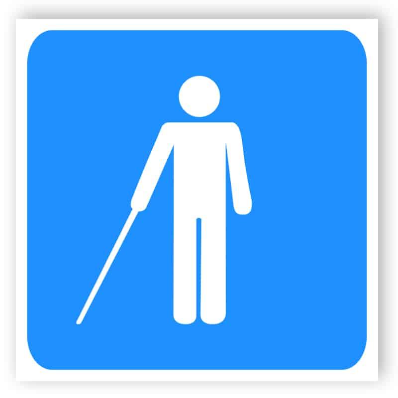 Behinderten Schild - Blind