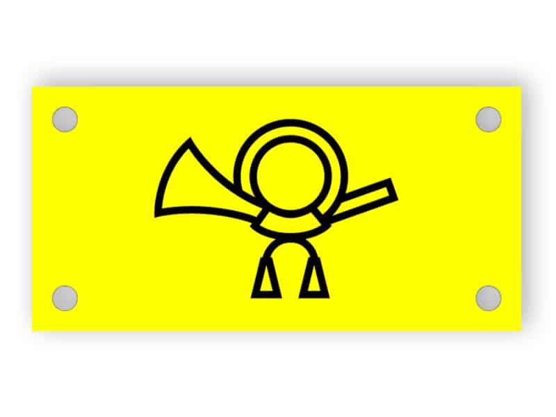 Yellow Letterbox-Platte