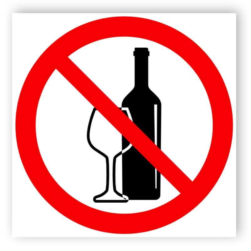 Kein Alkohol Schild