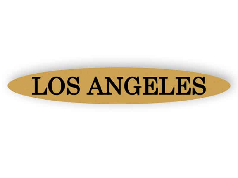 Los Angeles - gold Schild