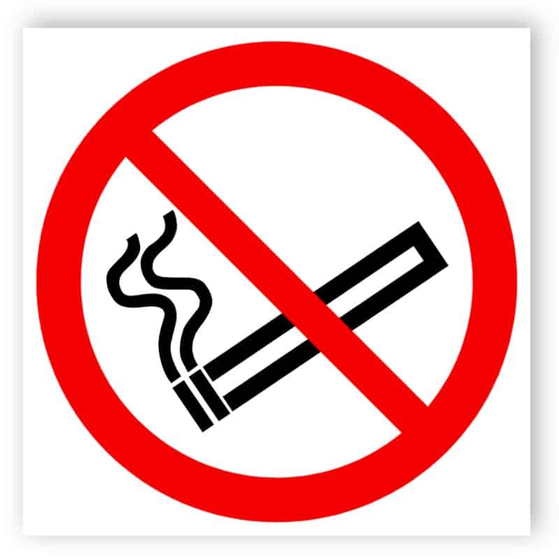 Rauchen verboten - Aufkleber