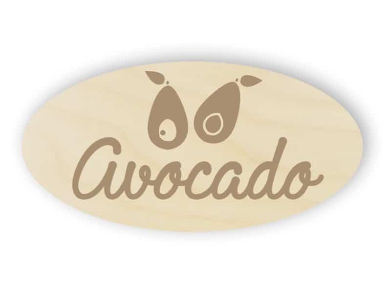 Holz Avocado Schild