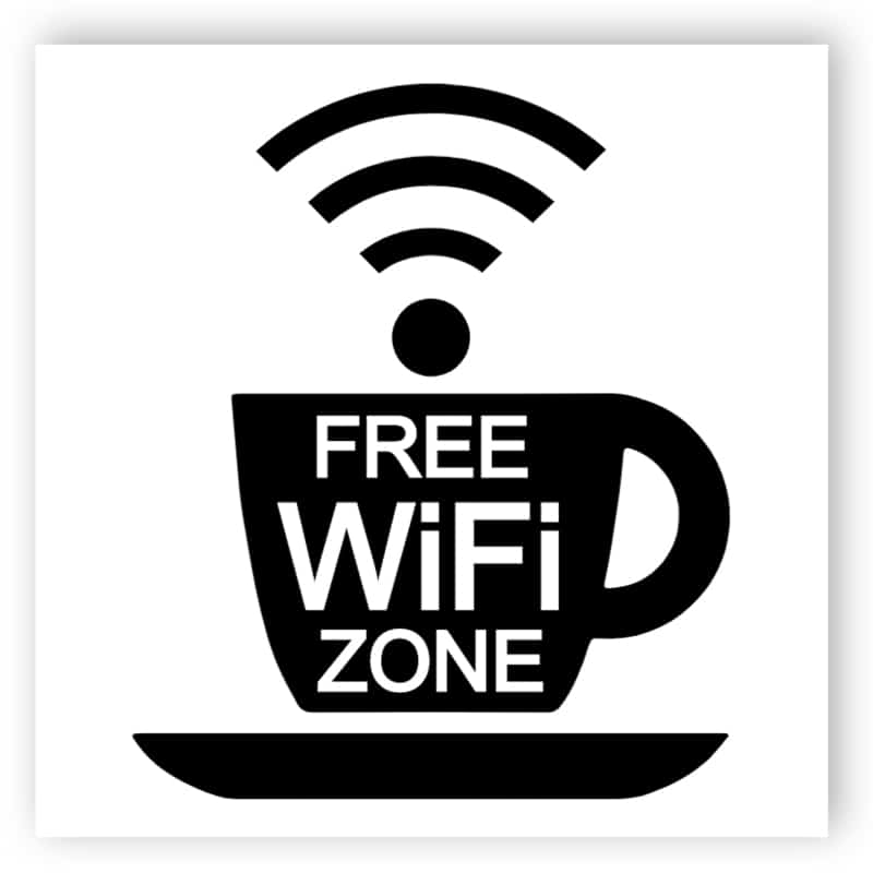 Kostenloser WLAN-Zone - Tasse Aufkleber
