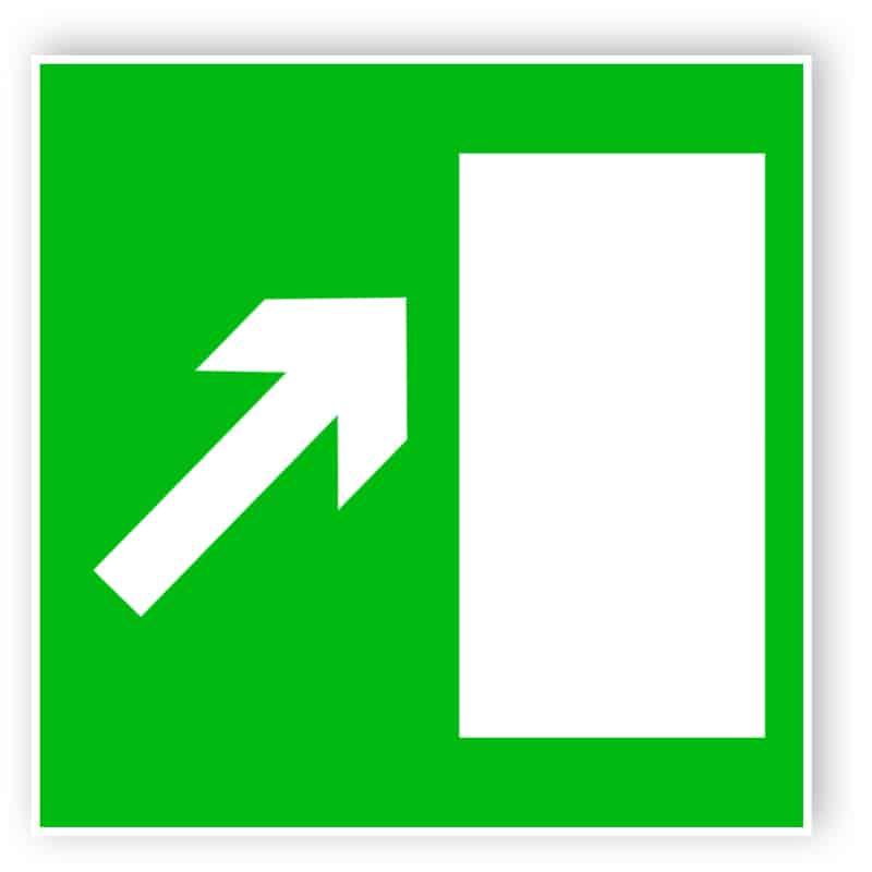 Rettungsweg rechts aufwärts 1