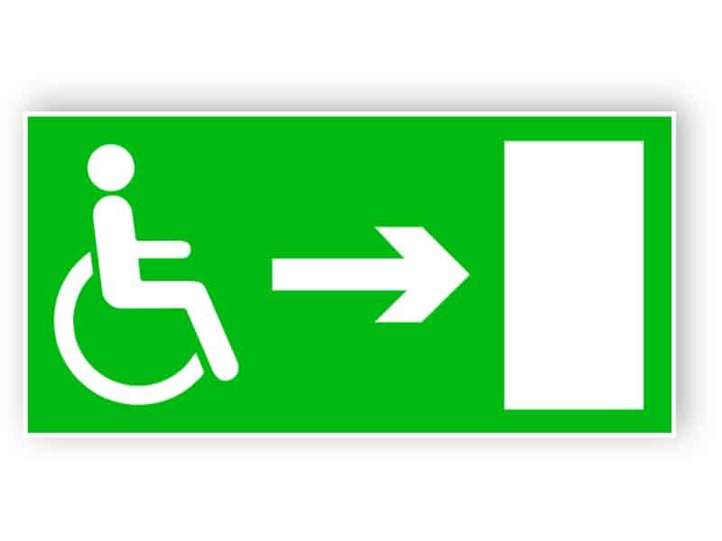 Rettungsweg für Behinderte (rechts)