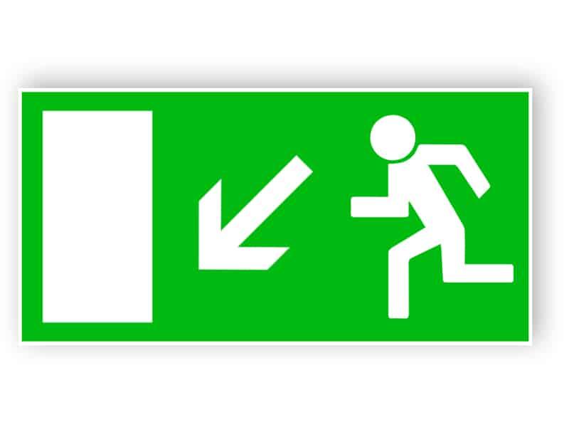 Rettungsweg links abwärts