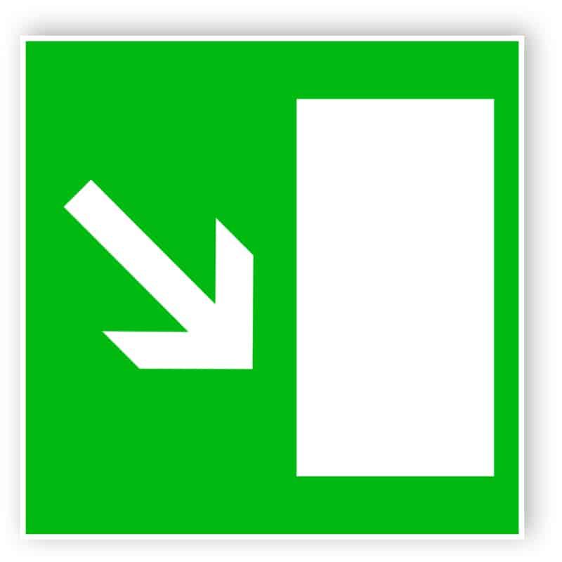 Rettungsweg rechts abwärts 1
