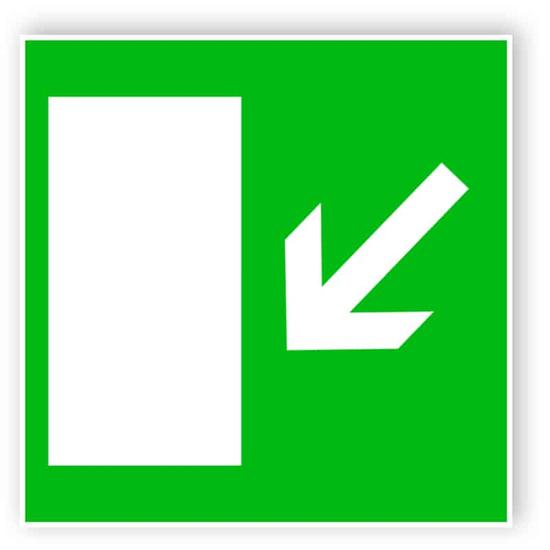 Rettungsweg links abwärts 1