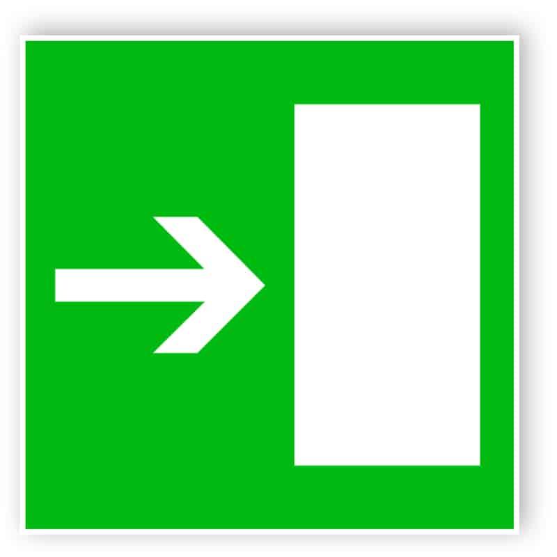 Rettungsweg nach rechts 1