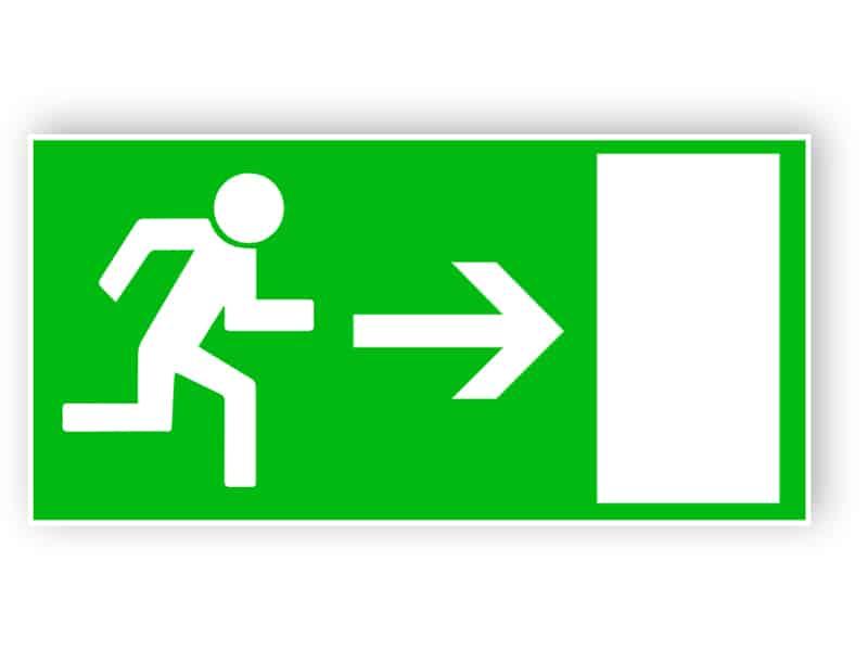Rettungsweg nach rechts